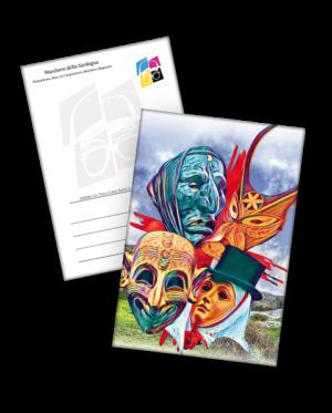 cartolina le 4 maschere