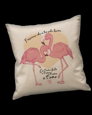 Cuscini fenicotteri rosa Sardegna